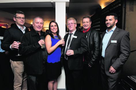 Rob MacPherson, Mike Craib, Lynn Boyle, David Reed, Dougie Irvine and Stuart Moir