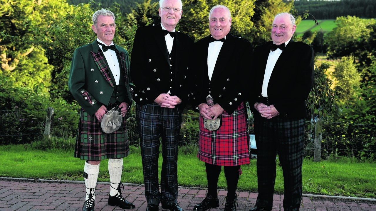 Sandy Buchan, Allan Michie, John Morrison and Allen Mavor