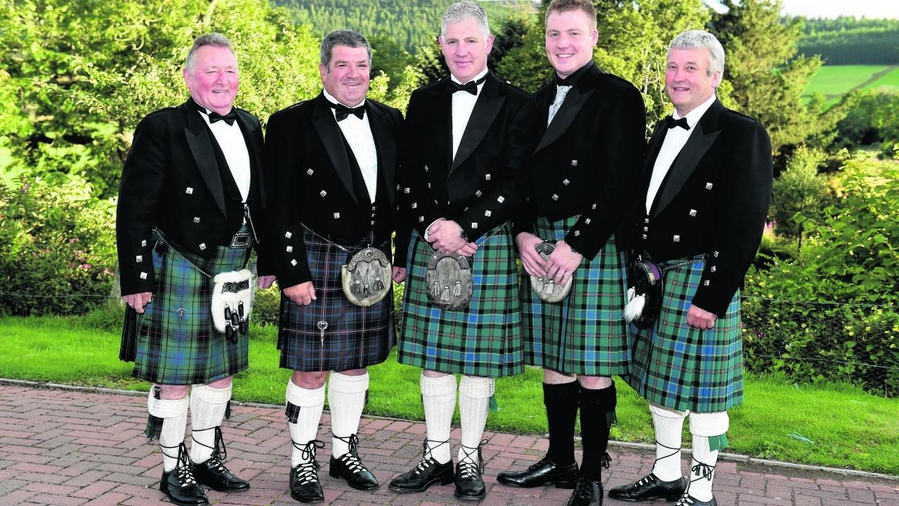 Duncan Davidson, Eric Stephan, Neil Milne, Fraser Milne and Gordon Booth.