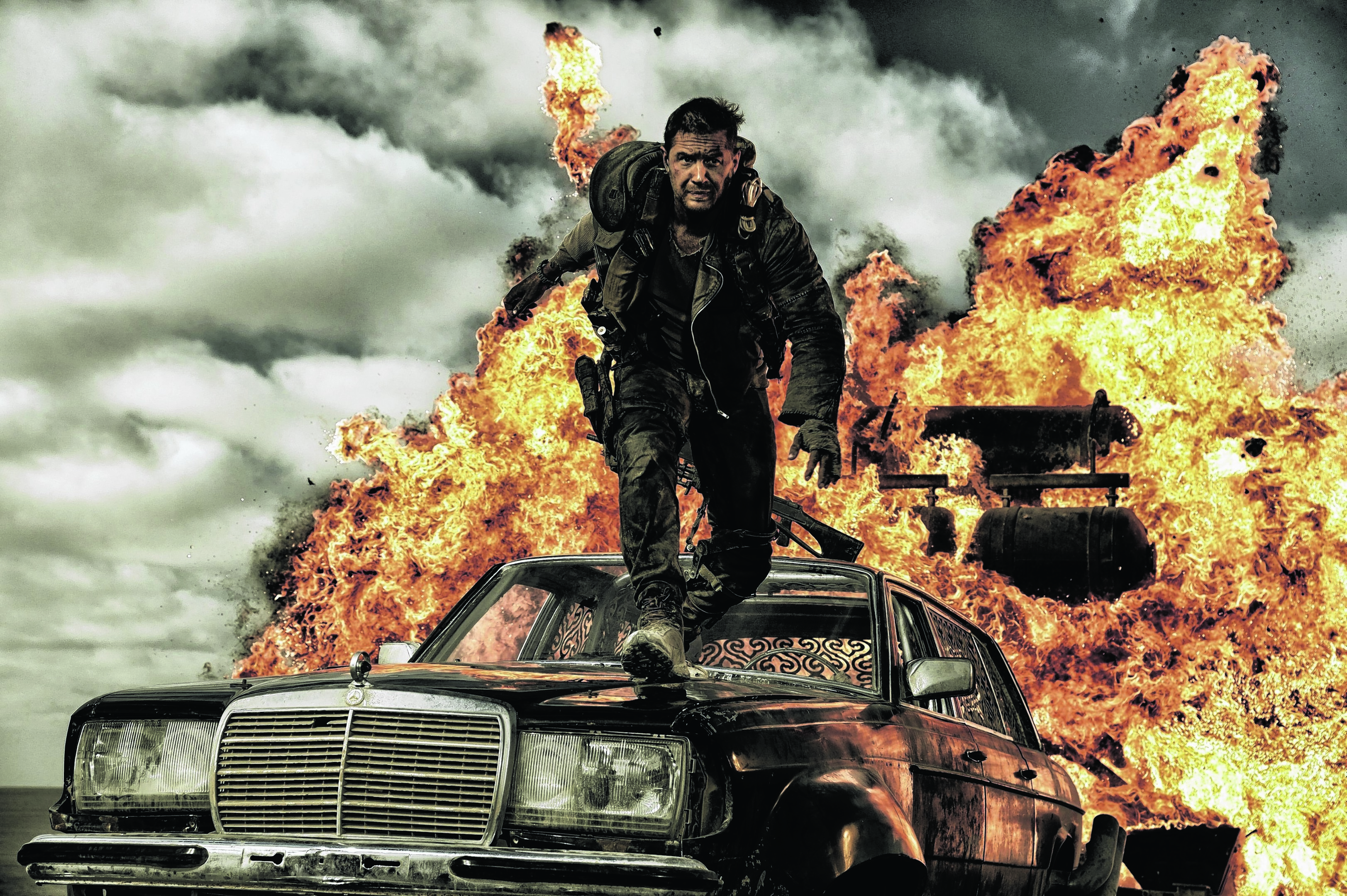 Tom Hardy stars in the turbo-charged Mad Max: Fury Road