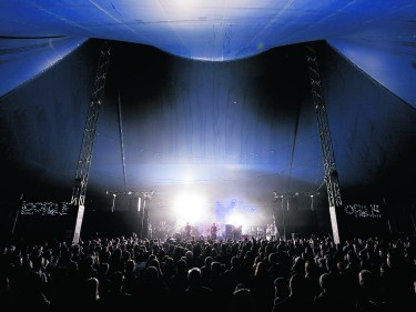 Headliners Twin Atlantic fill the tent for Loopallu's sold-out 10th birthday bash. Photo:  Paul Campbell
