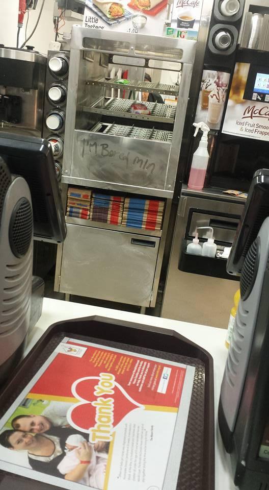 This painfully honest message at MacDonalds Garthdee