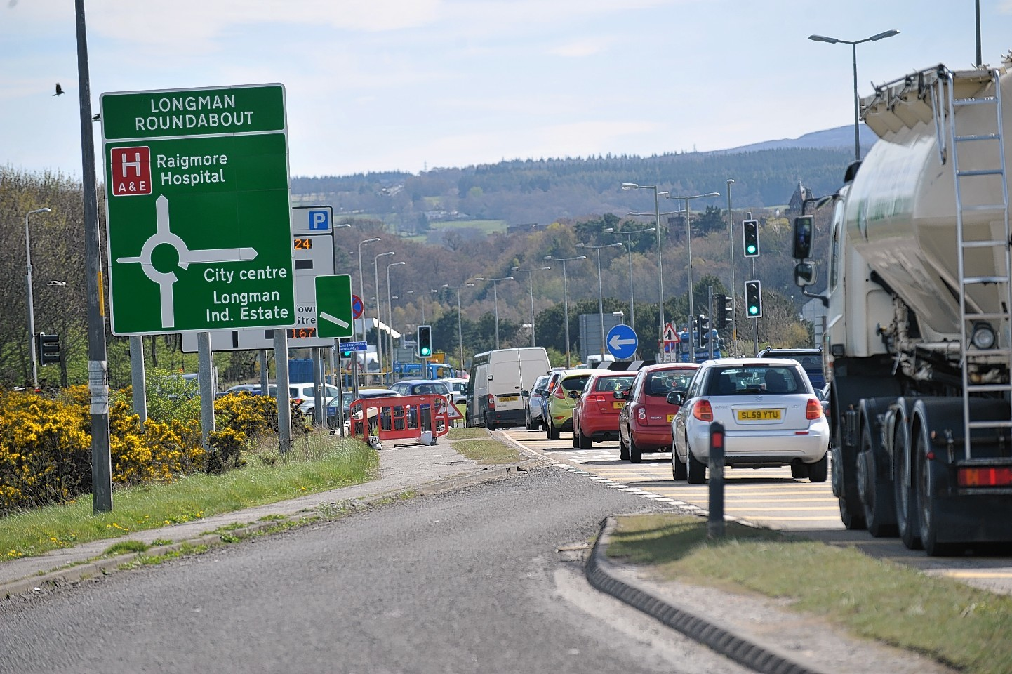 The Longman roundabout outside Inverness.