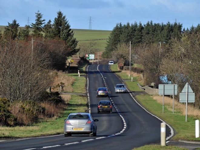 The A90 Aberdeen to Peterhead road
