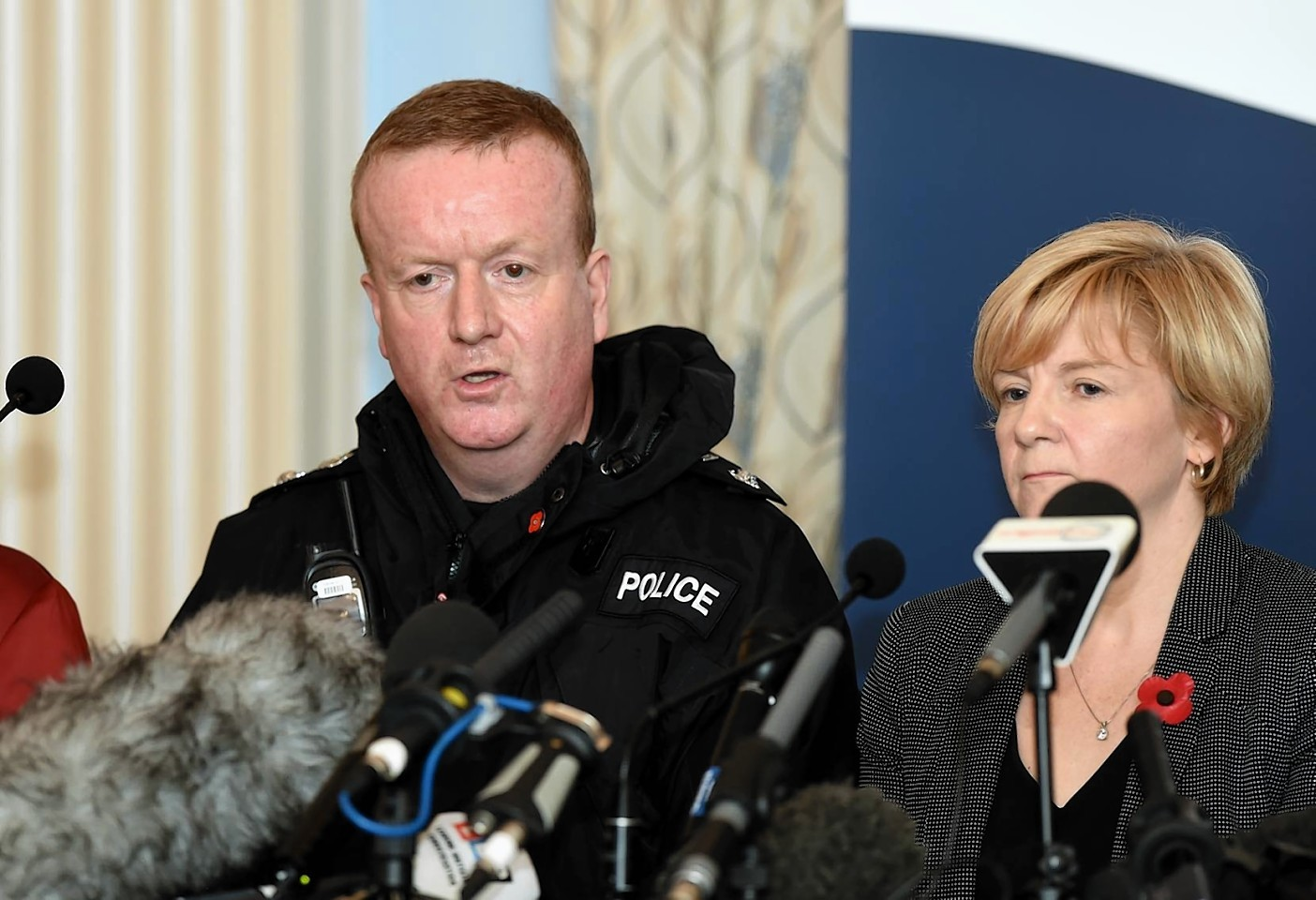 Chief Superintendent, Adrian Watson and Aberdeen City Council Leader, Jenny Laing spoke to the media yesterday