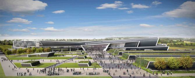 Artist impression of the planned new AECC for Bucksburn.  Submitted images - 09/10/15