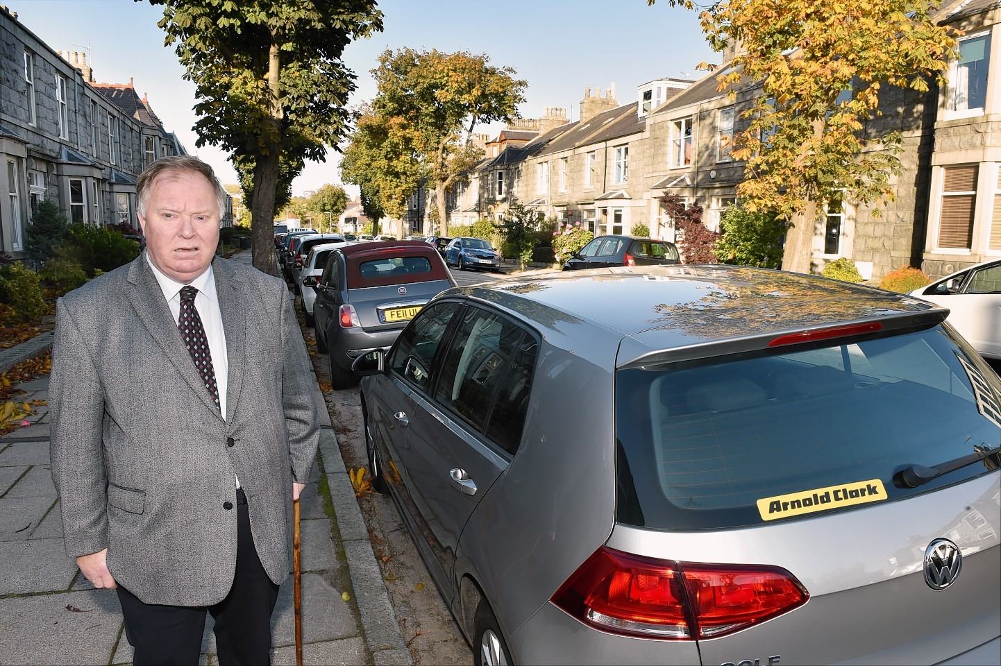 Cllr Bill Cormie at Rosebury Street in Aberdeen. A house there has applied for it to be converted to multiple occupancy. Picture by COLIN RENNIE October 22, 2015.