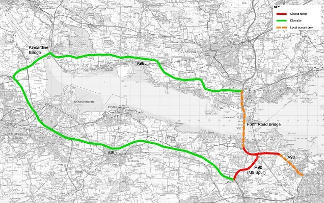 Closures on the A90