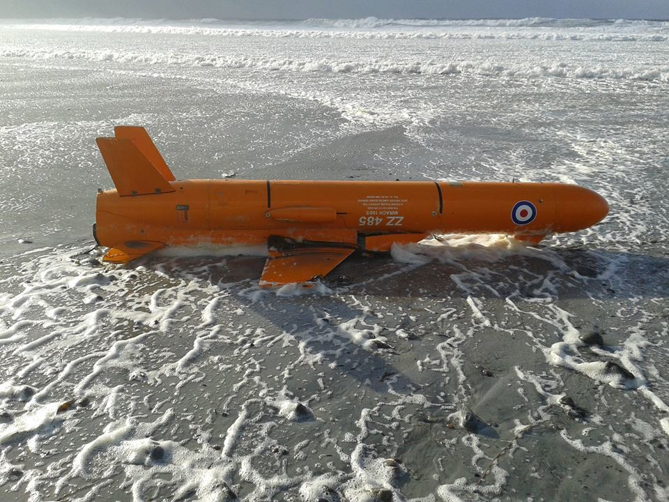 The target drone was found washed up on a beach in North Uist