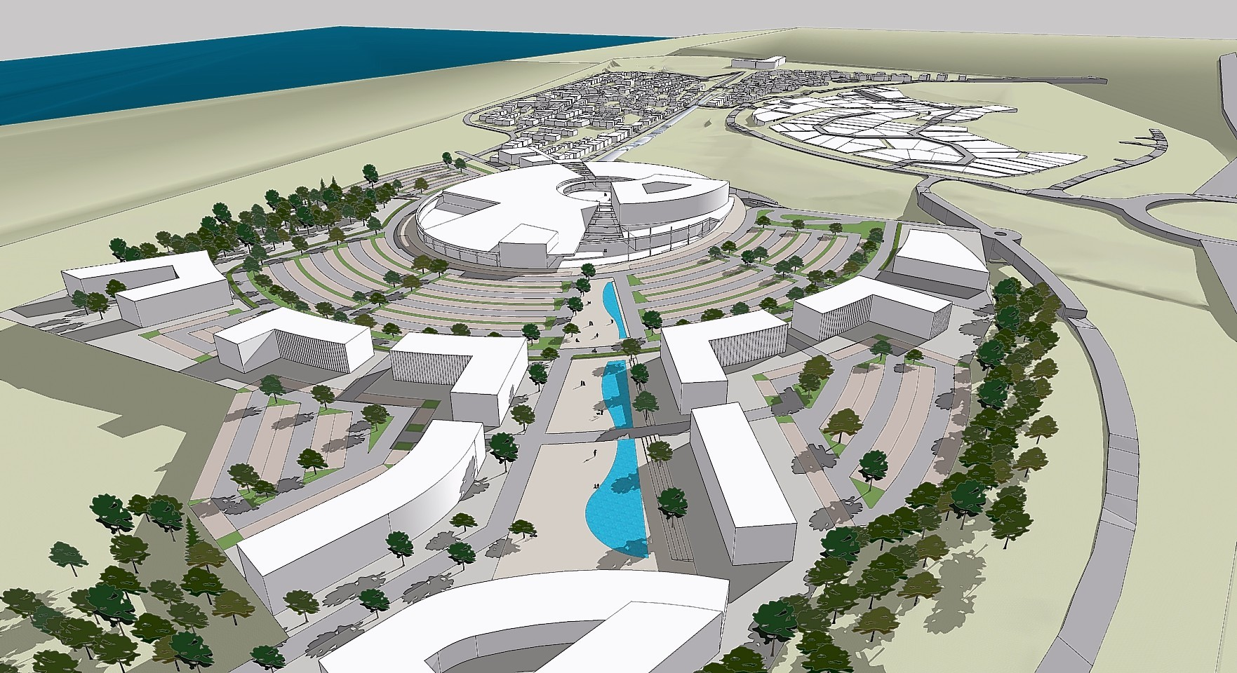 New artists impression of the proposed £140 million development at Blackdog.