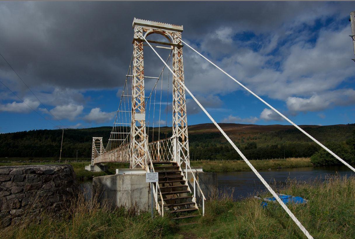 Polhollick Suspension Bridge, BallaterPolhollick Suspension Bridge, Ballater