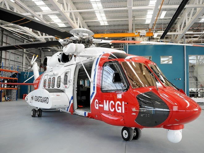The Inverness-based coastguard helicopter Rescue 951 at its base