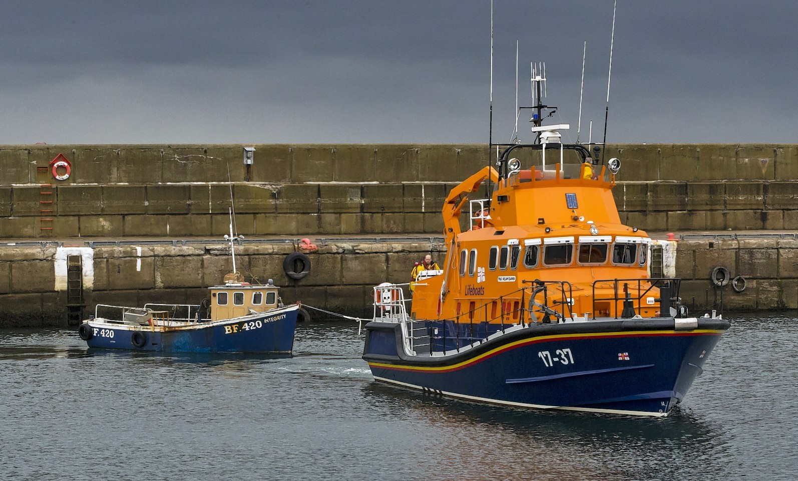 Lifeboats from Buckie were involved in the search