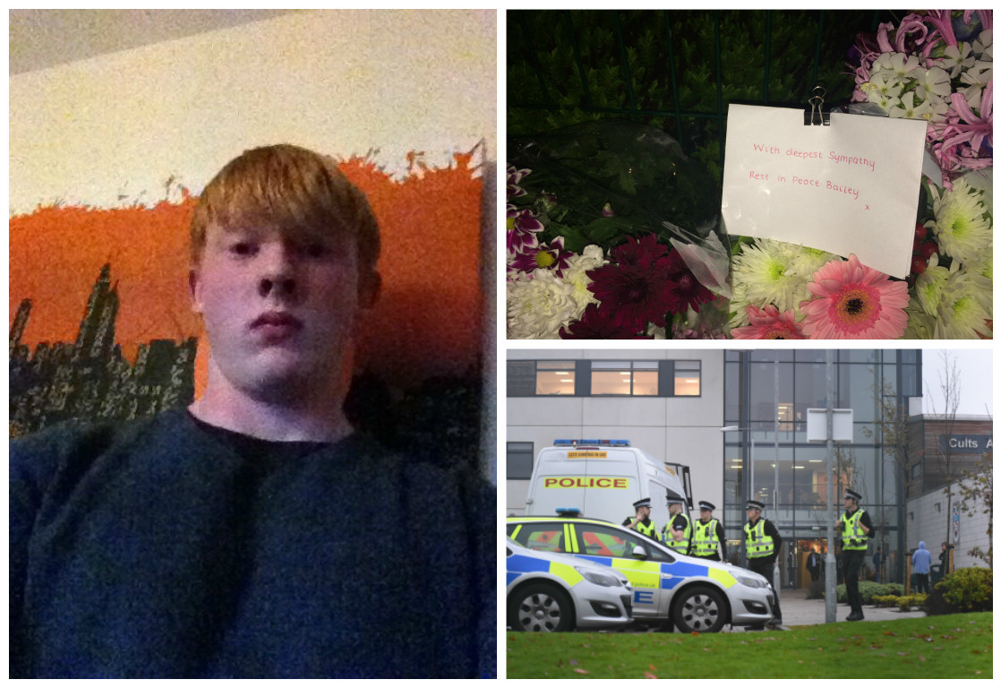 Bailey Gwynne died on Wednesday following an alleged stabbing at Cults Academy. Pictures by Kami Thomson