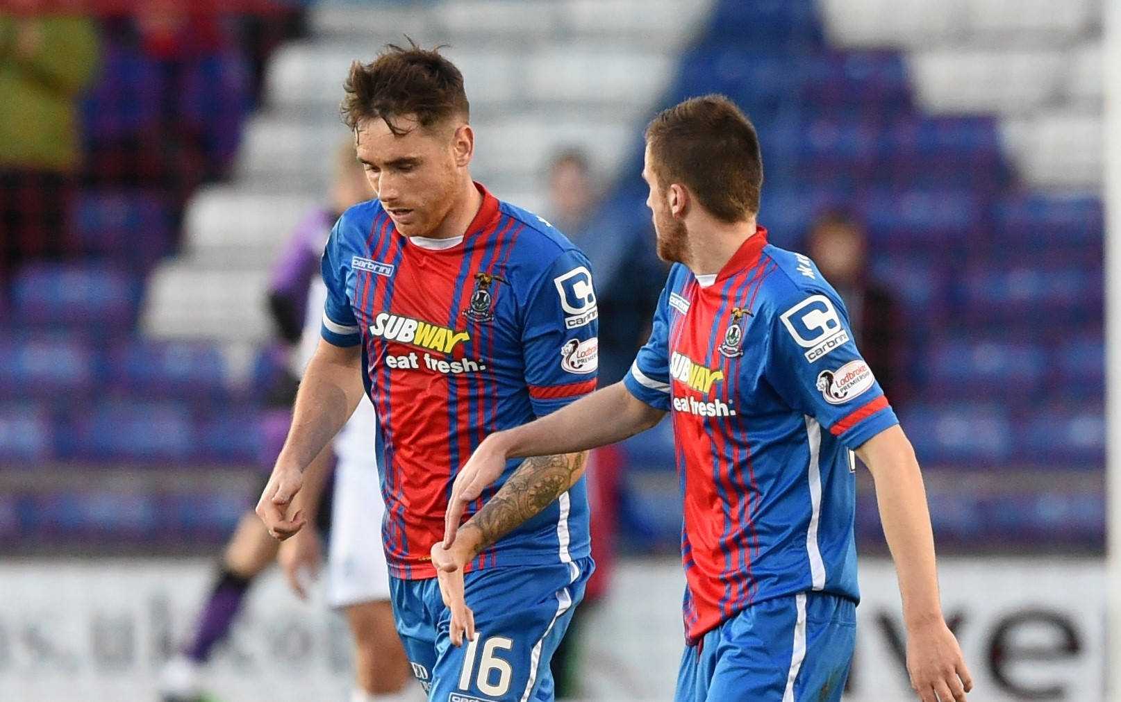 Caley Thistle's Greg Tansey celebrates his goal with team-mate Liam Polworth