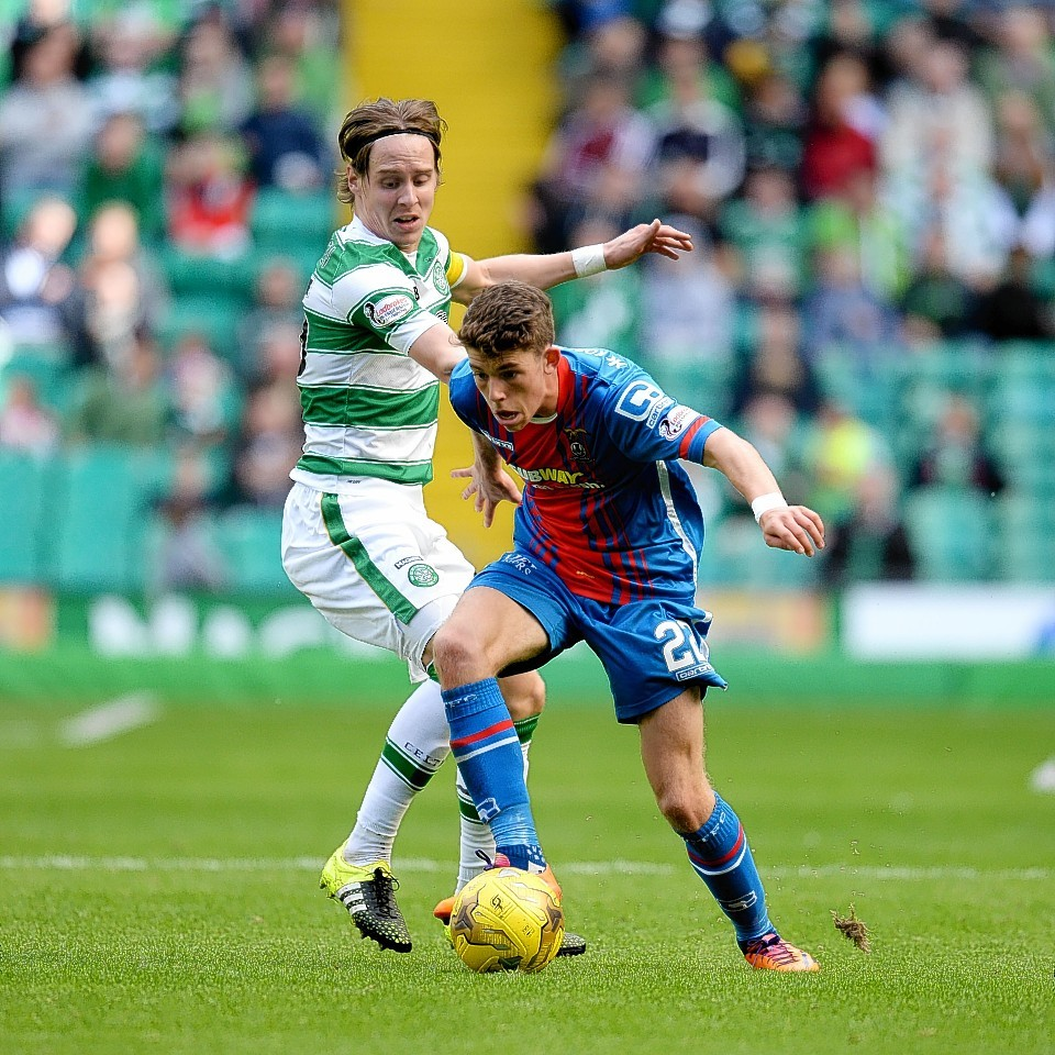 Ryan Christie is on loan to Caley Thistle from Celtic.