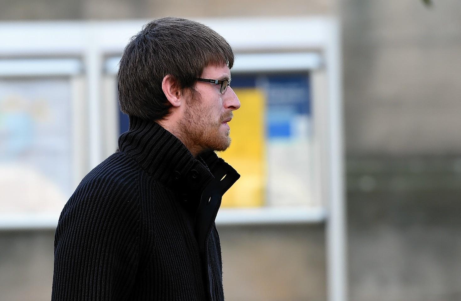 Connor McGrath leaving Elgin Sheriff Court