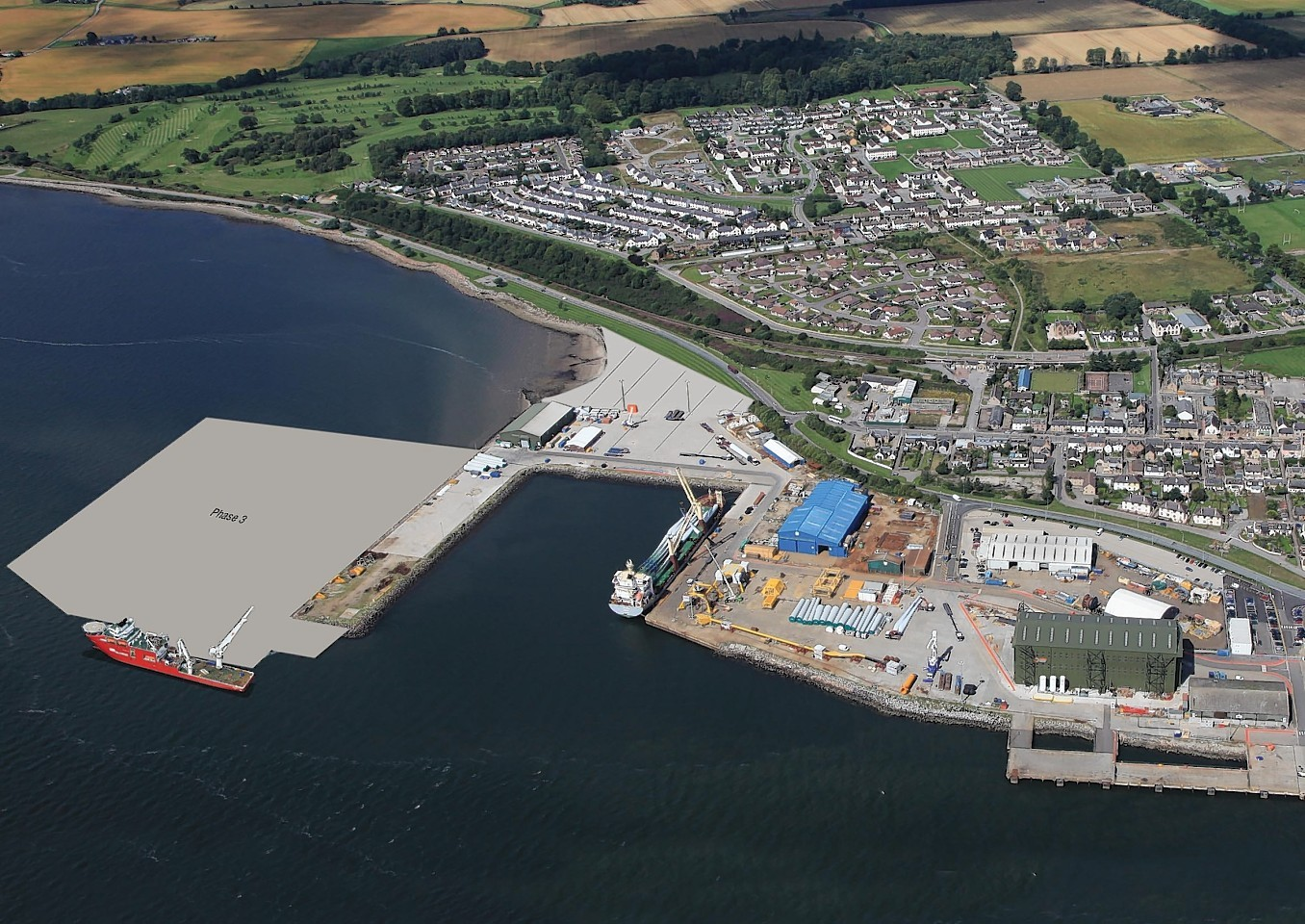 Plans for development of the port on the Cromarty Firth