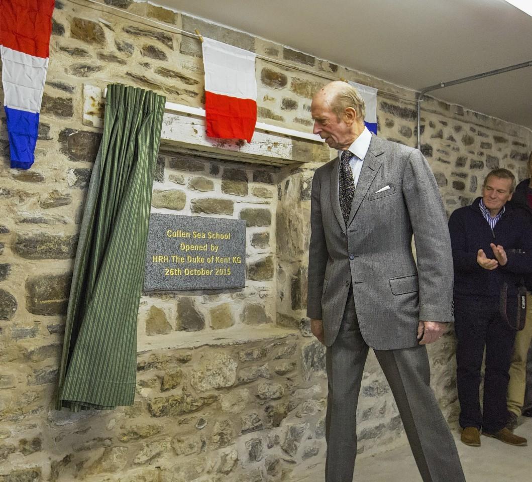 Duke of Kent unveils the new Cullen Sea School