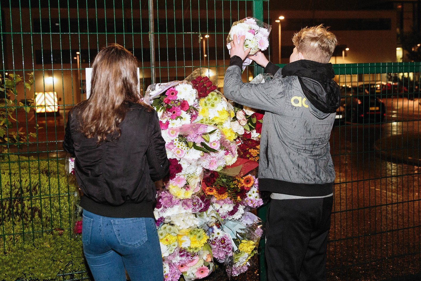 Pupils, teachers and the wider community has all paid their respects. Pictures by Kami Thomson
