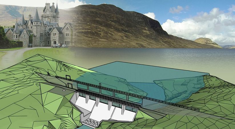 An artist impression of the dam
