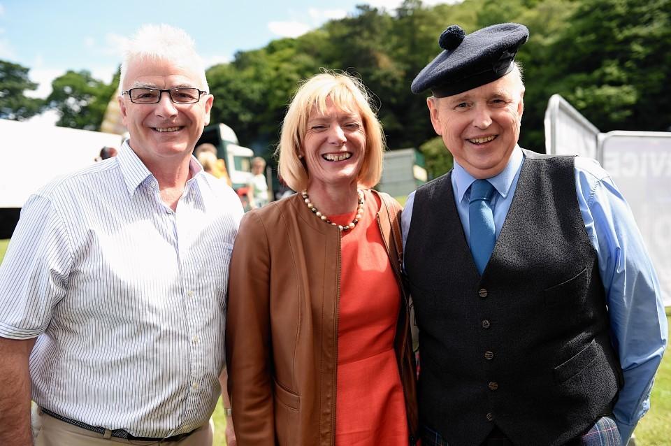 Sandy Adam, Anne Adam, and David Urquhart. Picture by Gordon Lennox