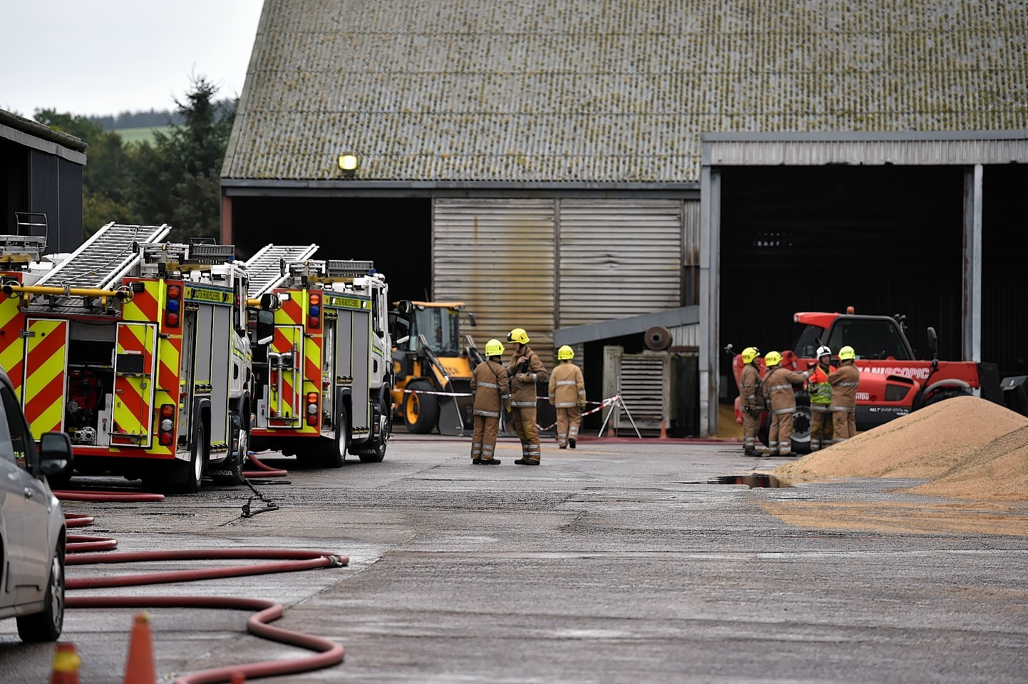 Fire at East Coast Viners near Drumlithie, Aberdeenshire. Picture by Colin Rennie