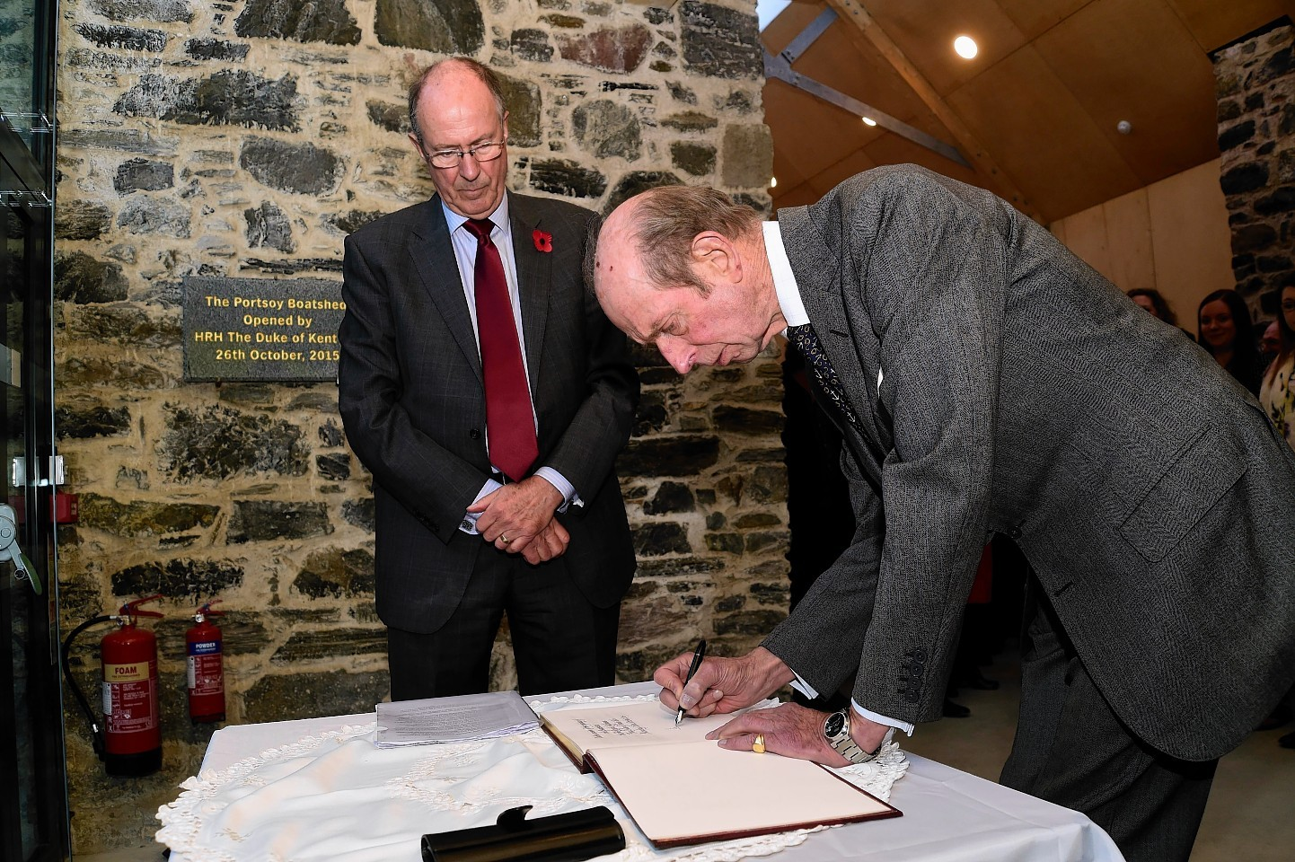 The Duke of Kent on his visit to Portsoy