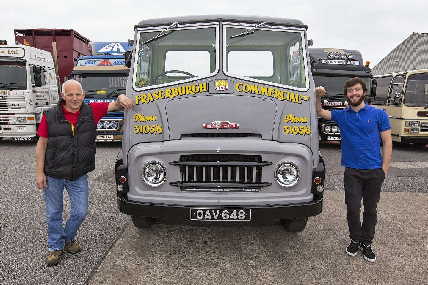 John Burnett and his son Stuart John Burnett and his father's 1957 truck.
