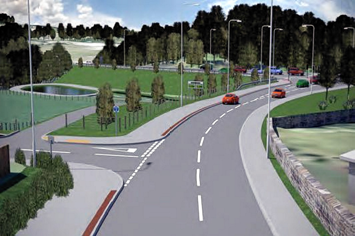 Plans for how the Western Link Road would have looked