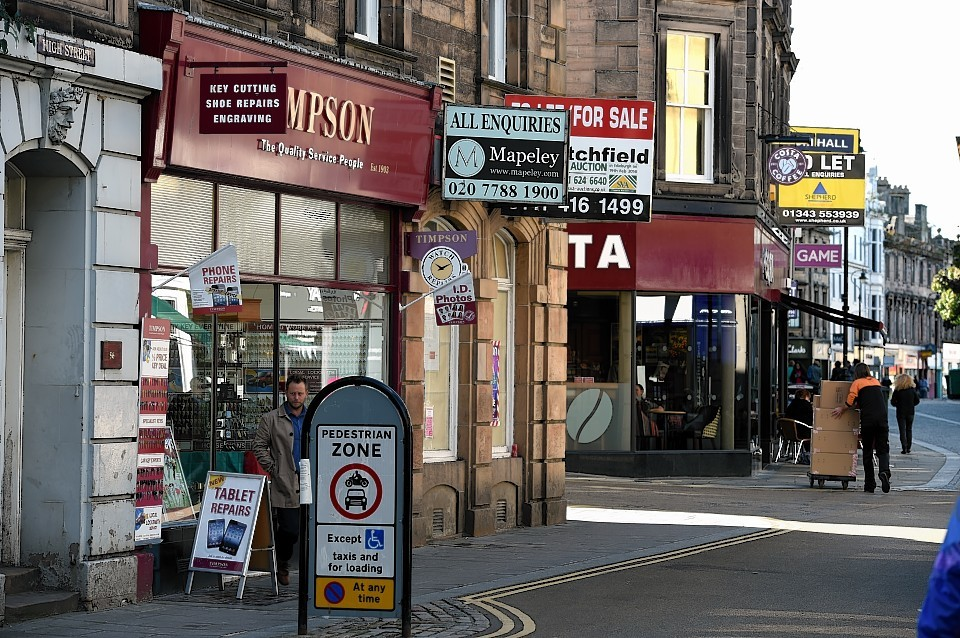 Scotland's retail industry is seeing growth  - in shop vacancies