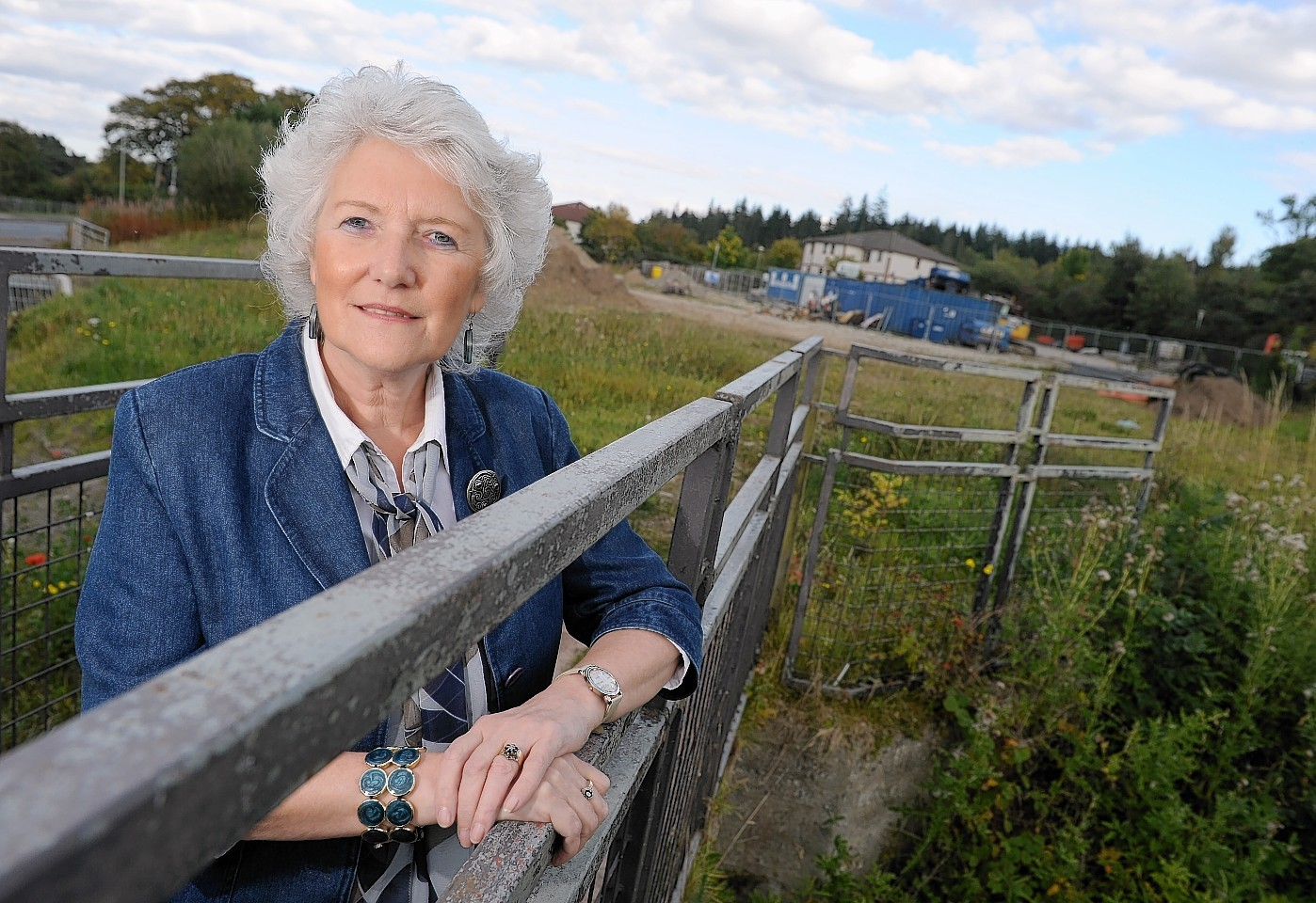 Elsie Normington, founder of the Elsie Normington Foundation at the site of the proposed new care centre in Culloden. Picture by Sandy McCook
