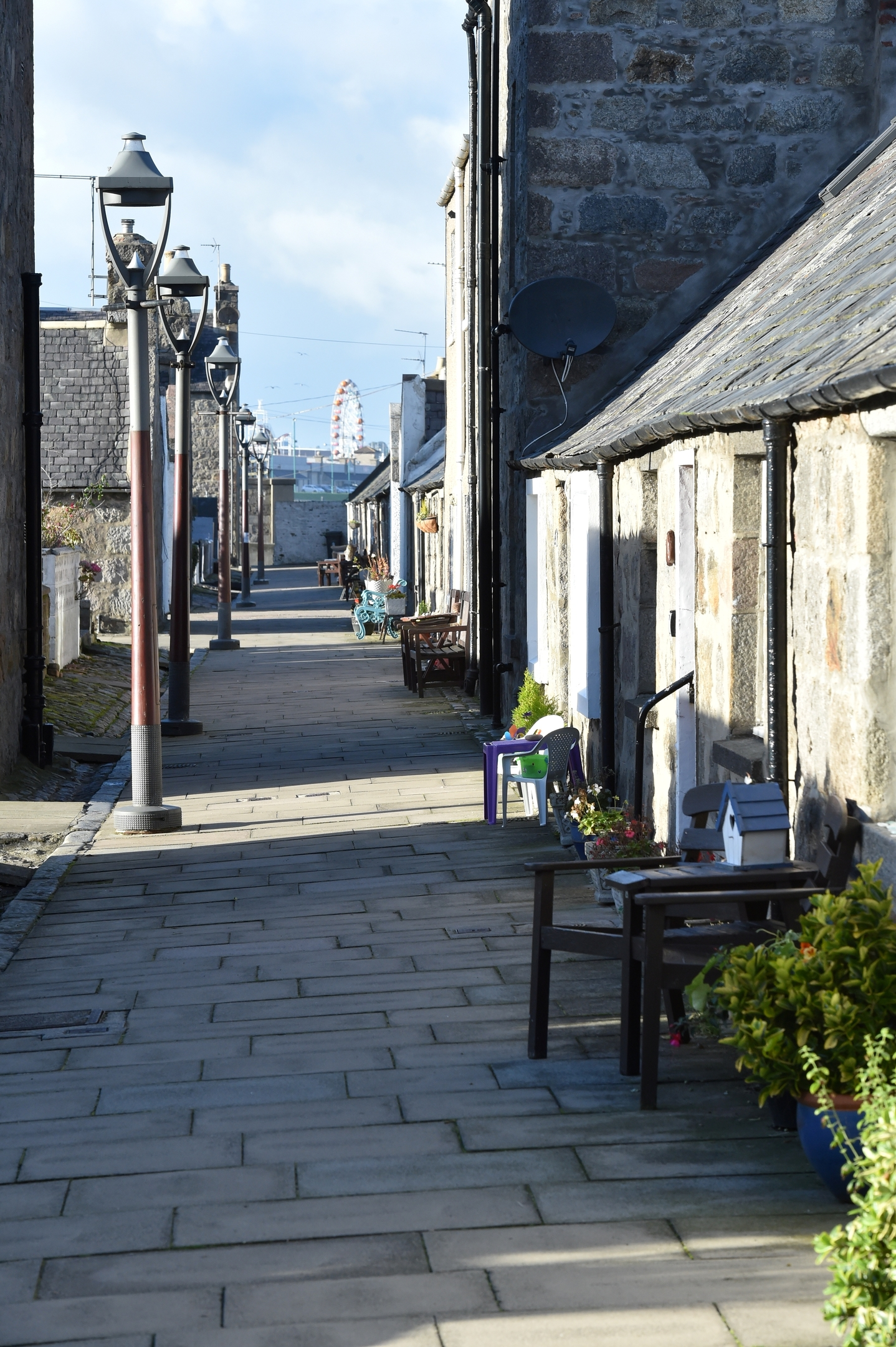 Footdee is a particularly interesting example of a planned housing development purpose-built to re-house Aberdeen's local fishing community