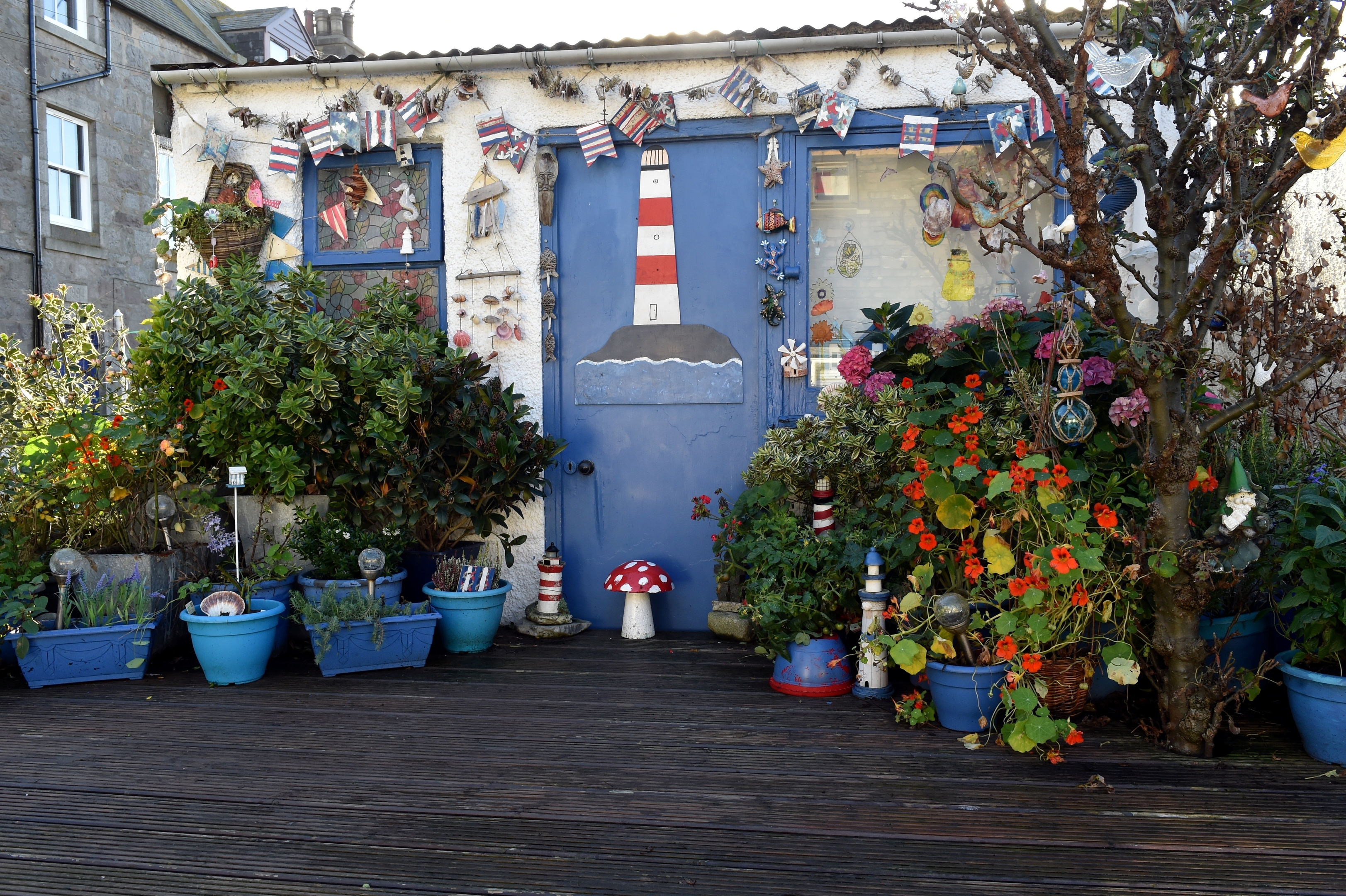 The houses are famed for their colourful character and sense of originality