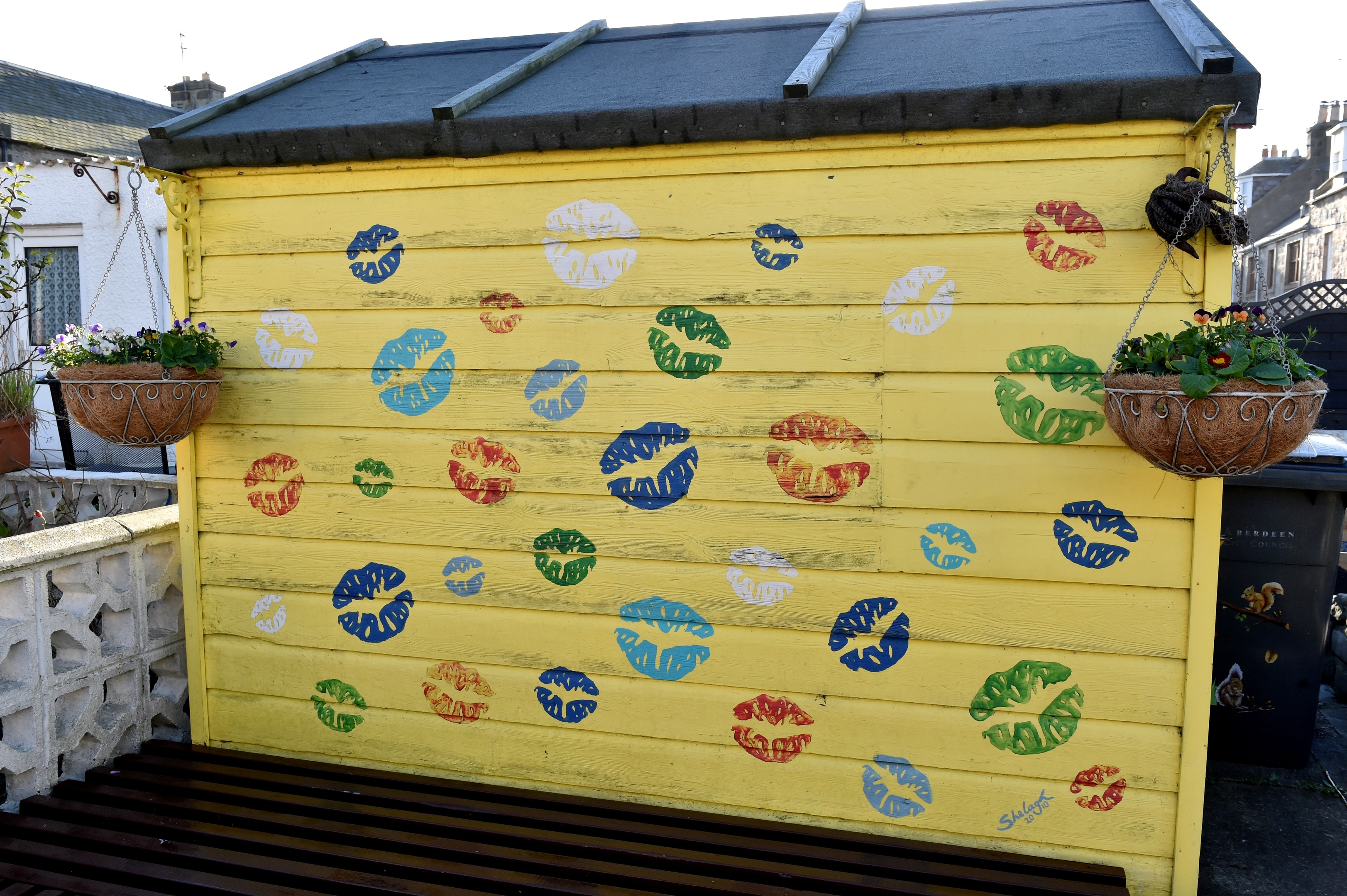 Even a shed in Fittie is made to stand out and put a smile on your face.