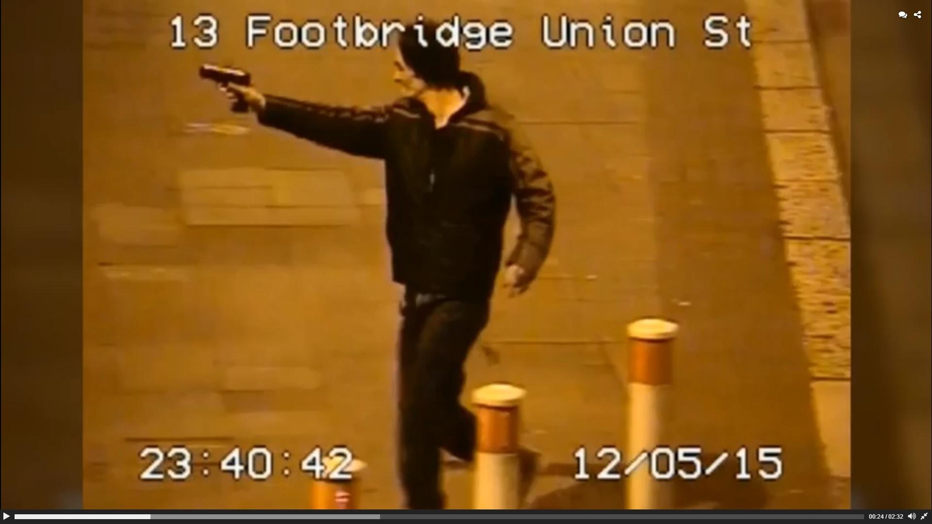 A drunk gun-toting man