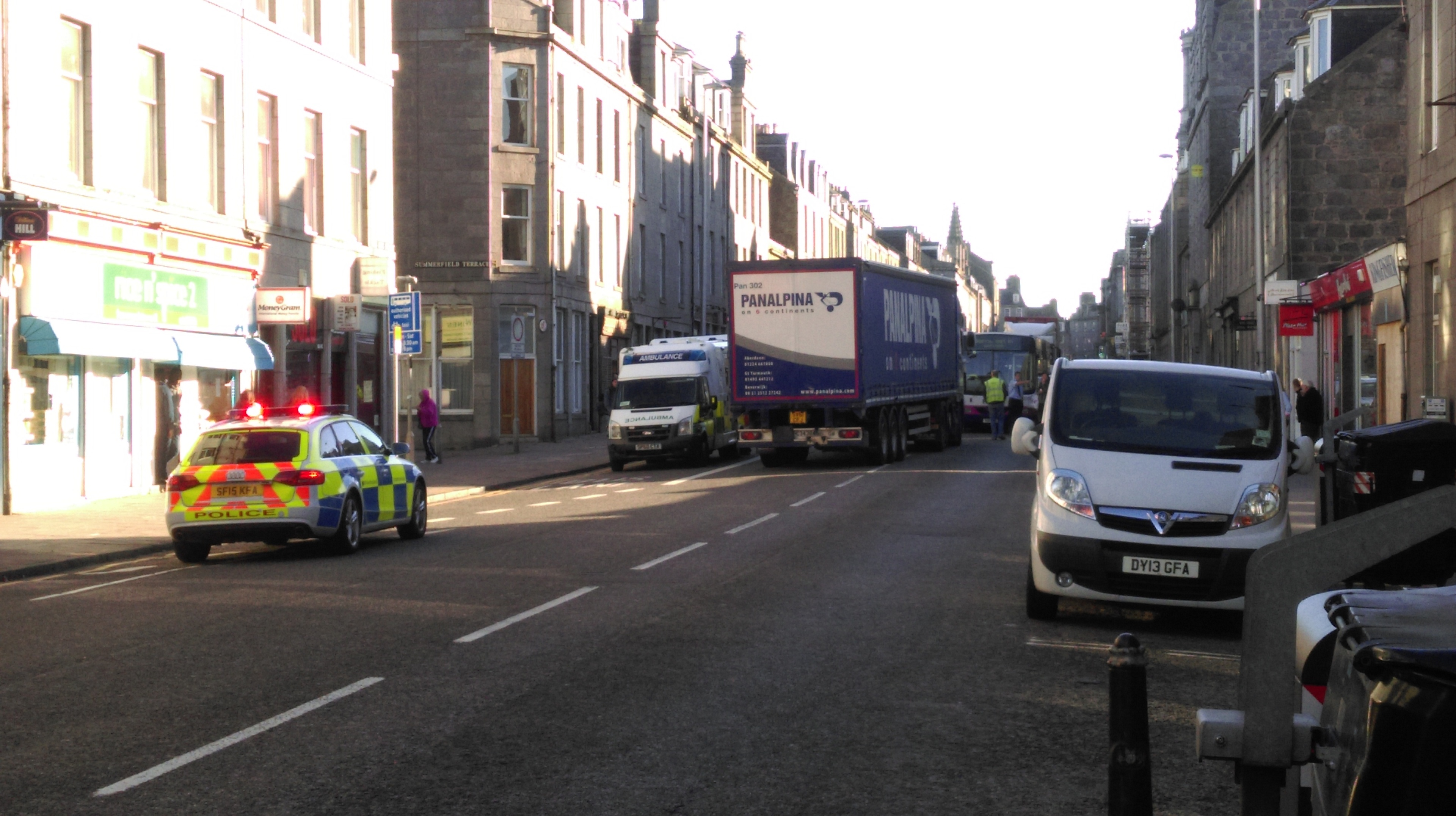 The woman was hit by the lorry on King Street, Aberdeen