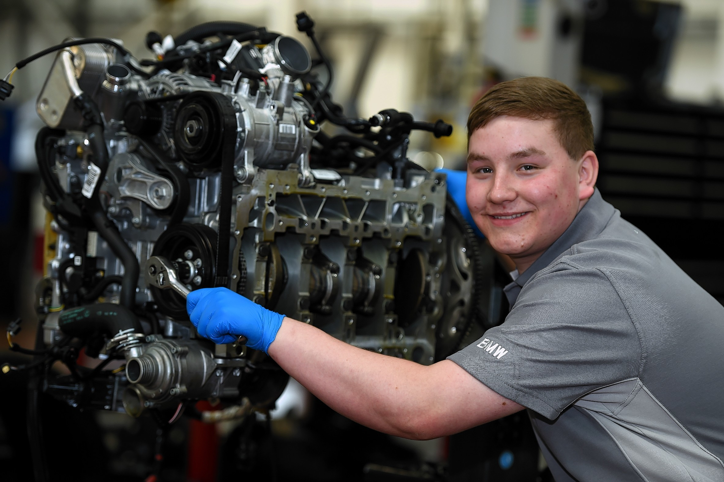 Apprentice 100: John Clark BMW Cars, Aberdeen. In the picture is apprentice, Joshua Falls.  Picture by Jim Irvine  2-10-15