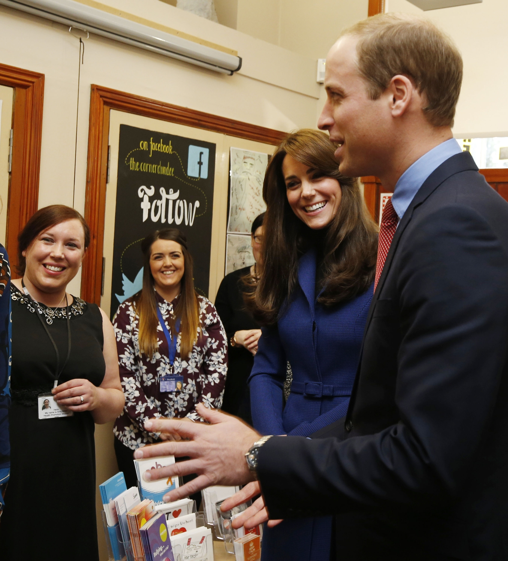The Duke and Duchess of Cambridge during their visit to The Corner where they participated in an anti-bullying workshop as part of their visit to Dundee