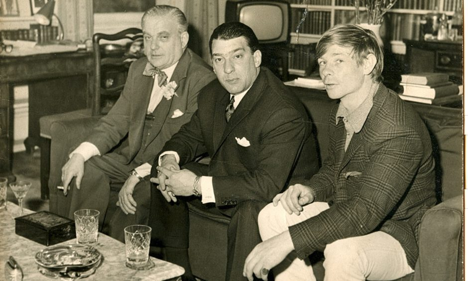 Lord Boothby, Ronnie Kray and Leslie Holt.