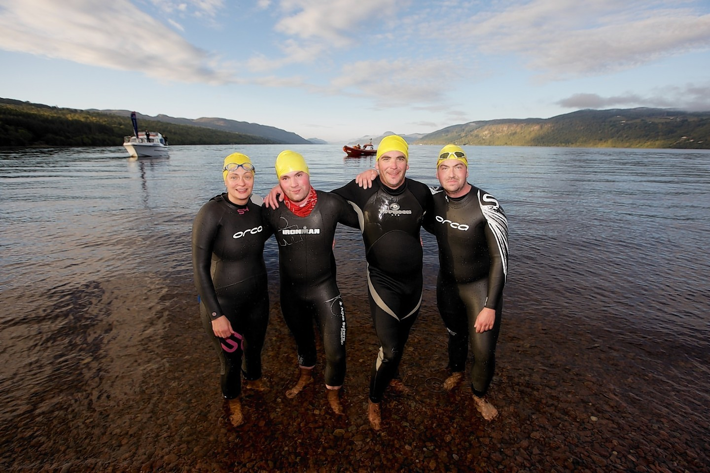 Swimmers Jamie Young, Kris Gordon, Michelle Gordon and Al Marshall