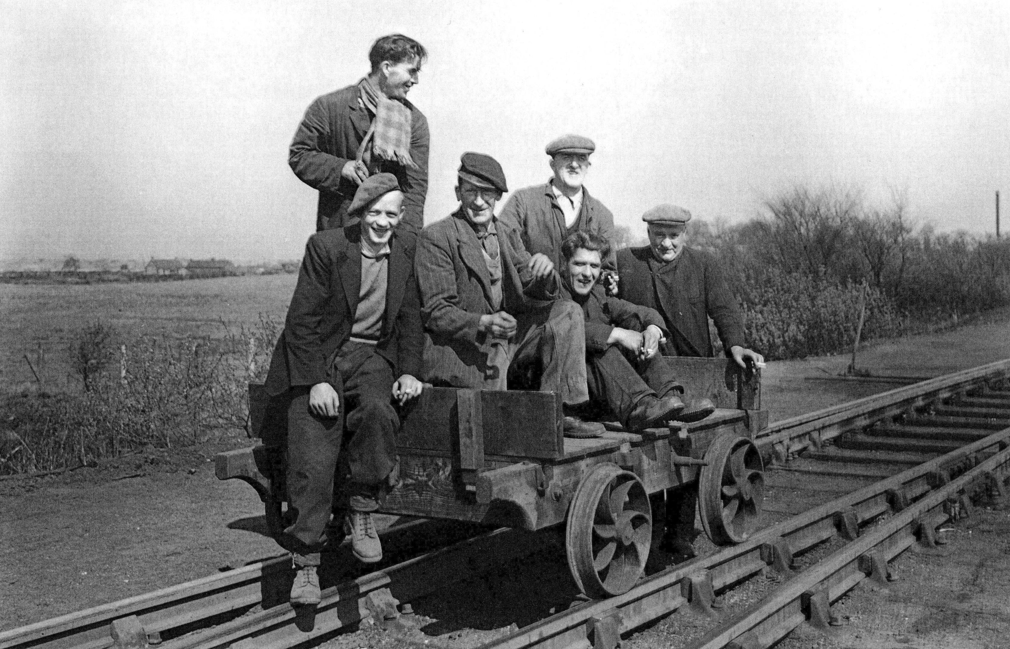 Men on the train tracks