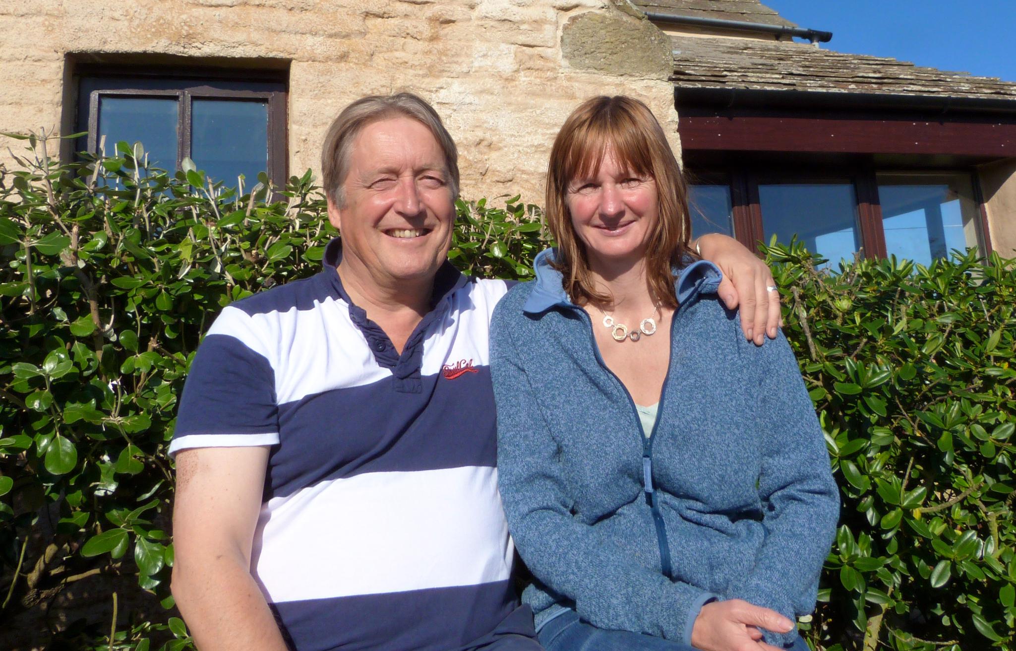 Steve Sankey and wife Sarah