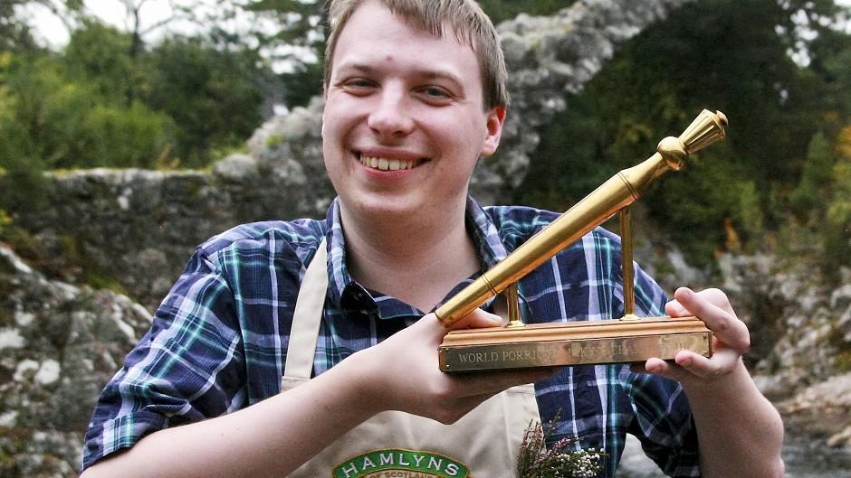 Simon Rookyard has been crowned the World Porridge Making Champion (James M Ross/PA)