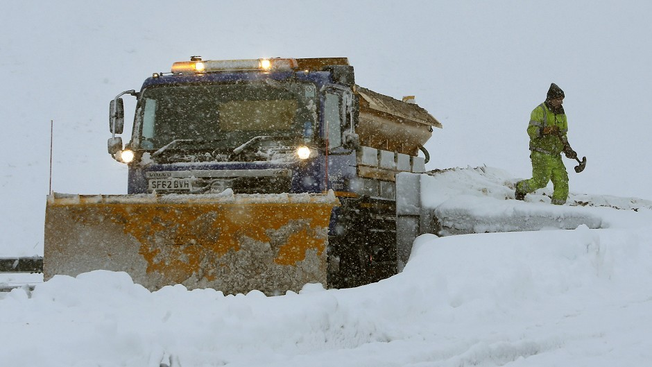 Gritters out on the roads