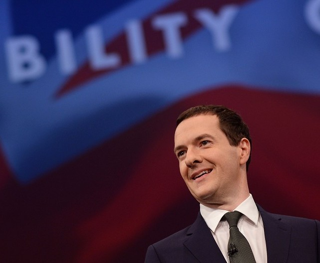 Chancellor George Osborne addresses the Conservative Party conference in Manchester