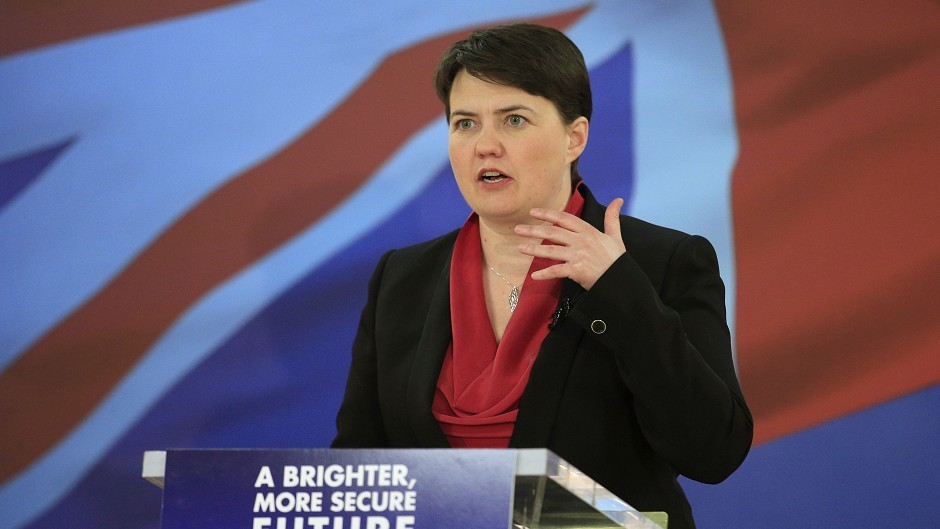 Ruth Davidson called for supporters who backed other unionist parties at the general election to try to stop the SNP to return to the Tories