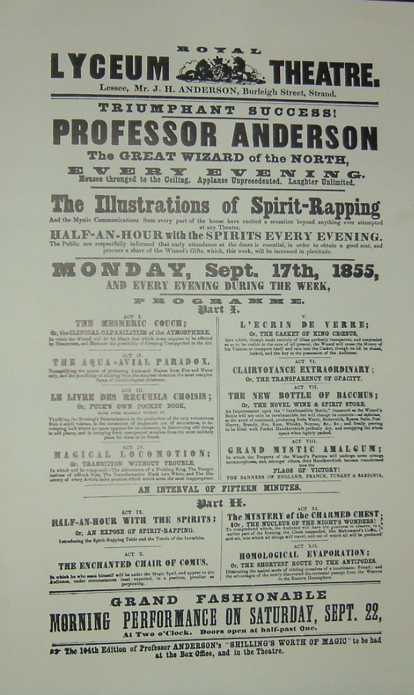 A playbill from Johns day