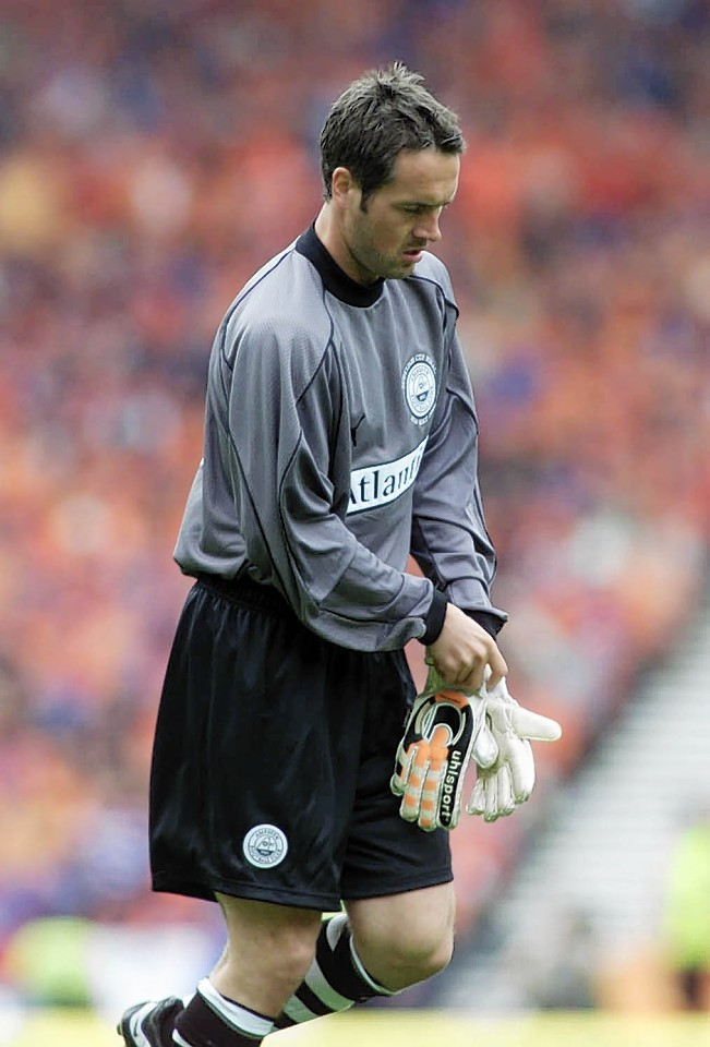 One sight that will alway stick in the minds of Dons fans... Robbie Winters playing in goal in a cup final