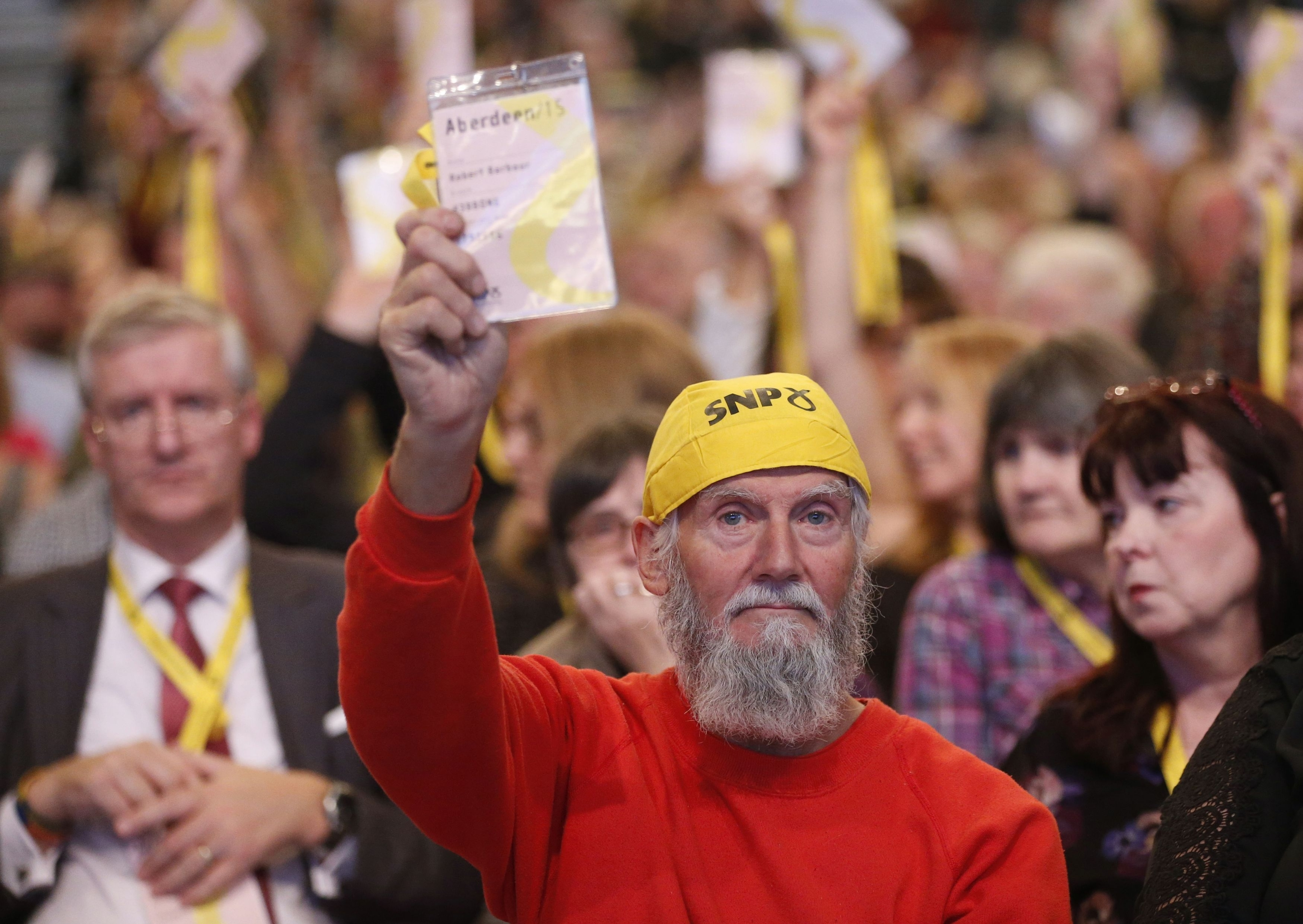 Conference delegates during the SNP National conference